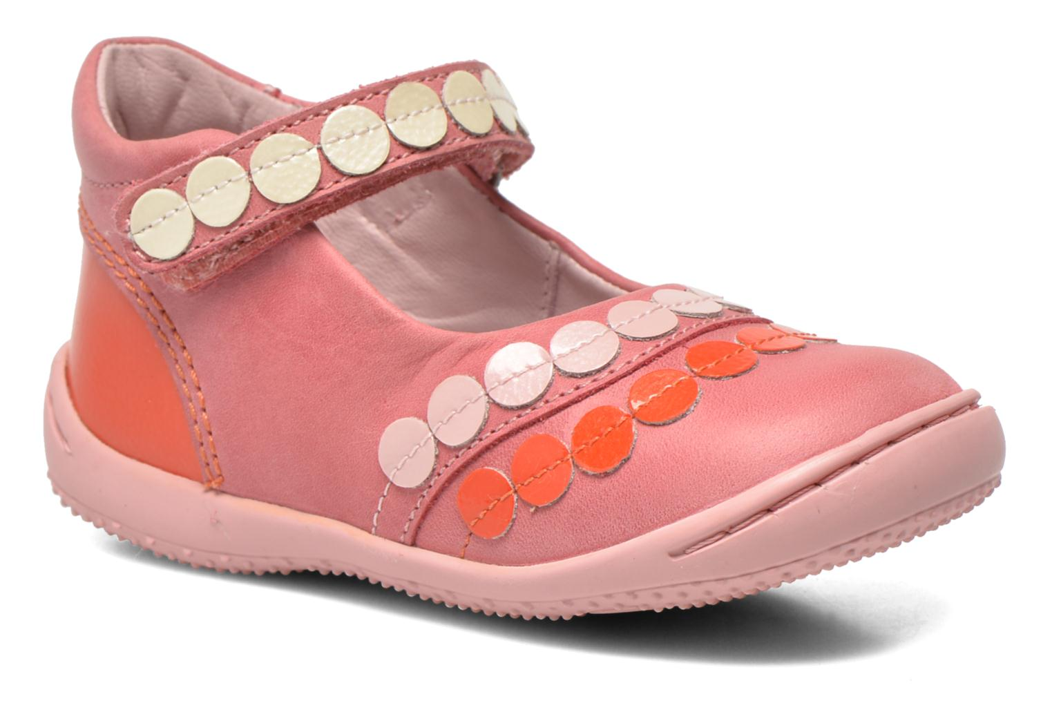 Ballerines Kickers Girly Rose vue détail/paire