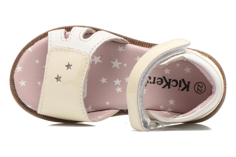 Sandales et nu-pieds Kickers Moonstar Blanc vue gauche