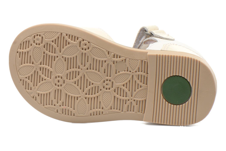 Sandales et nu-pieds Kickers Moonstar Blanc vue haut