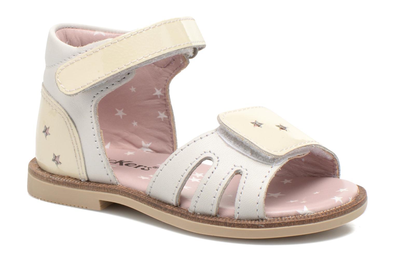 Sandaler Kickers Moonstar Hvid detaljeret billede af skoene