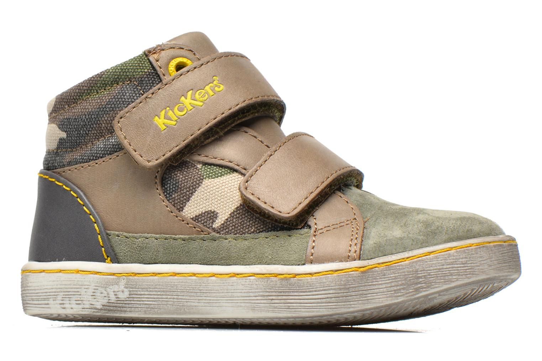 Sneakers Kickers Lyvio Grön bild från baksidan