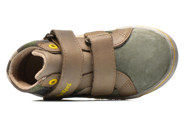 Sneakers Kickers Lyvio Verde immagine sinistra