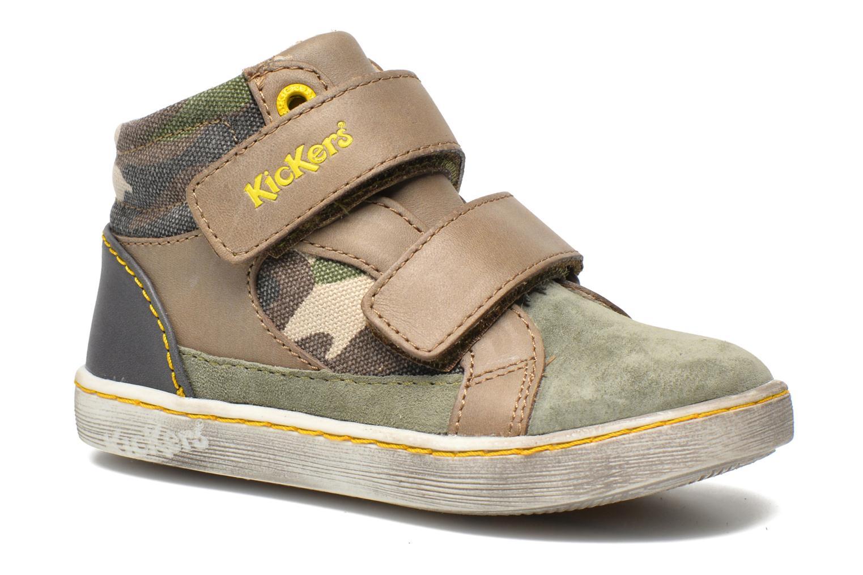 Sneakers Kickers Lyvio Grön detaljerad bild på paret