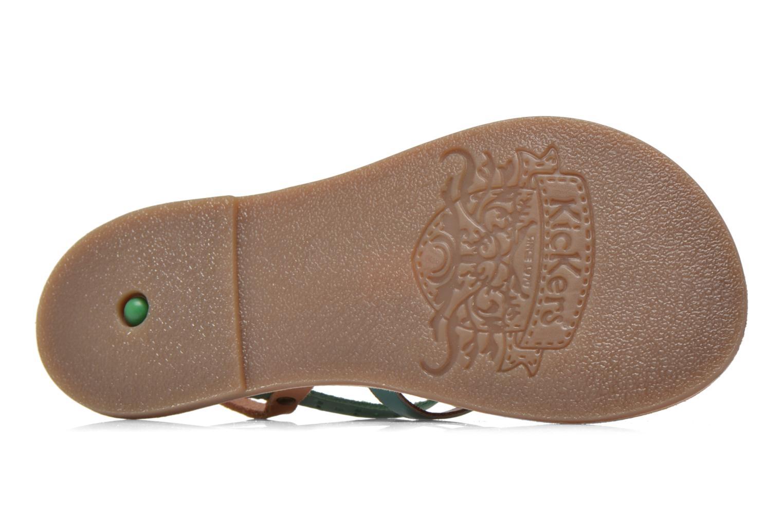 Sandales et nu-pieds Kickers Dixmillion Perf Bleu vue haut