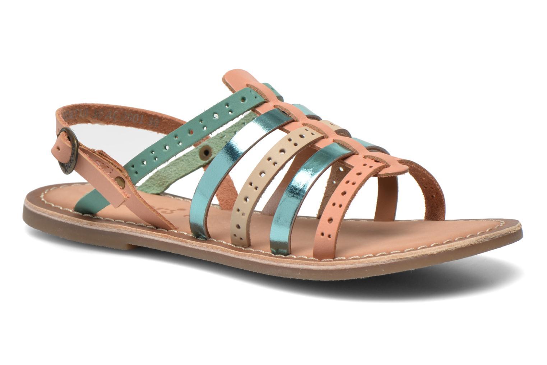 Sandales et nu-pieds Kickers Dixmillion Perf Bleu vue détail/paire