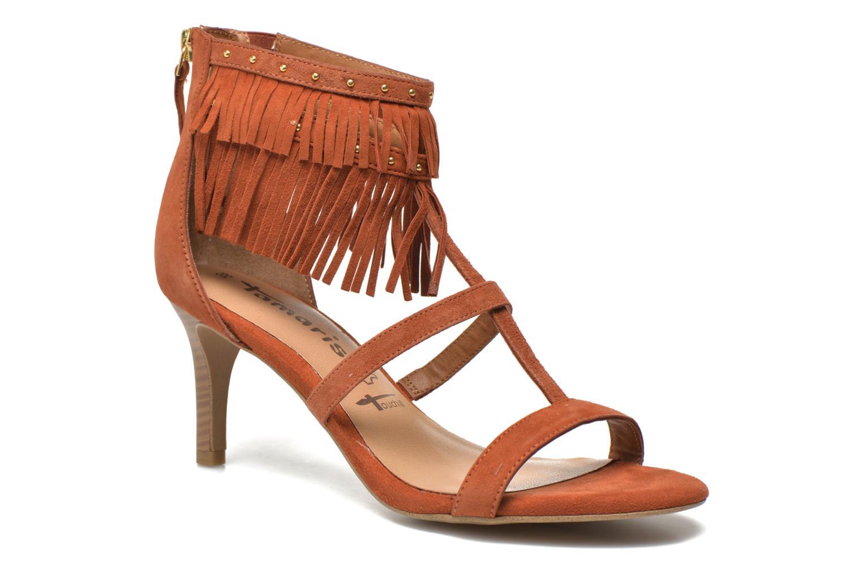Sandaler Tamaris Idylla Brun detaljeret billede af skoene