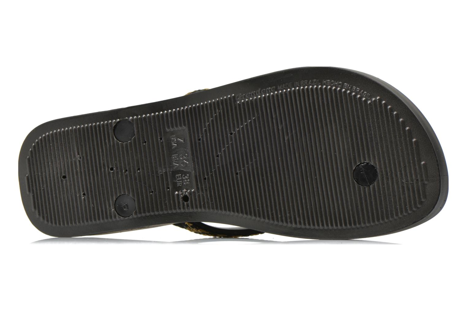 Flip flops Ipanema Mesh Plat Black view from above