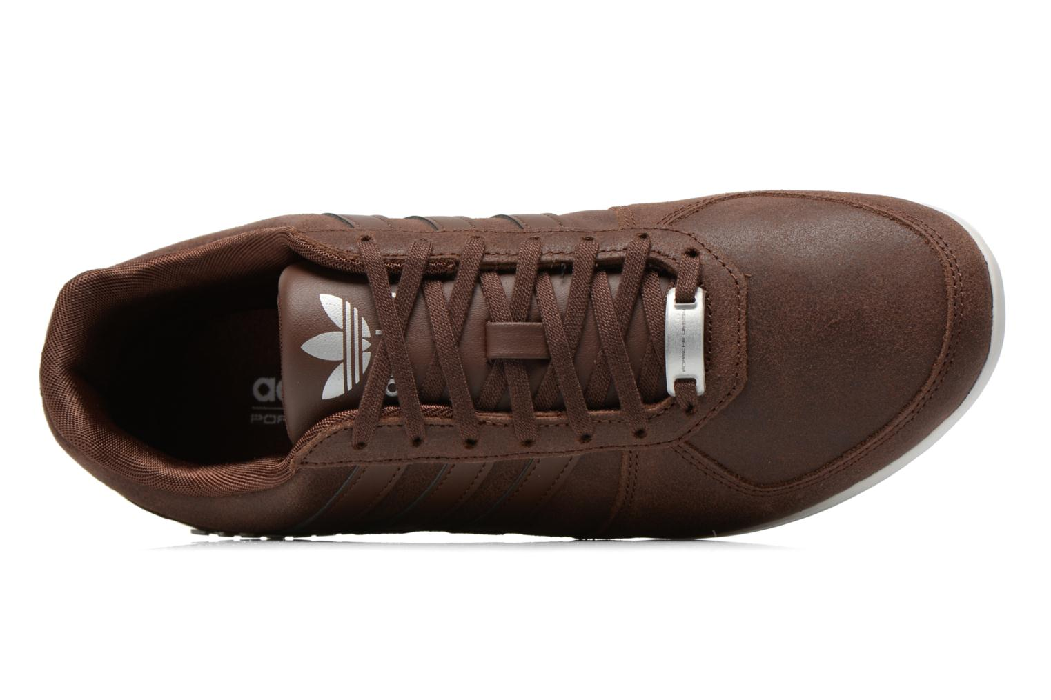 Baskets Adidas Originals Porsche 360 1.2 Suede Marron vue gauche