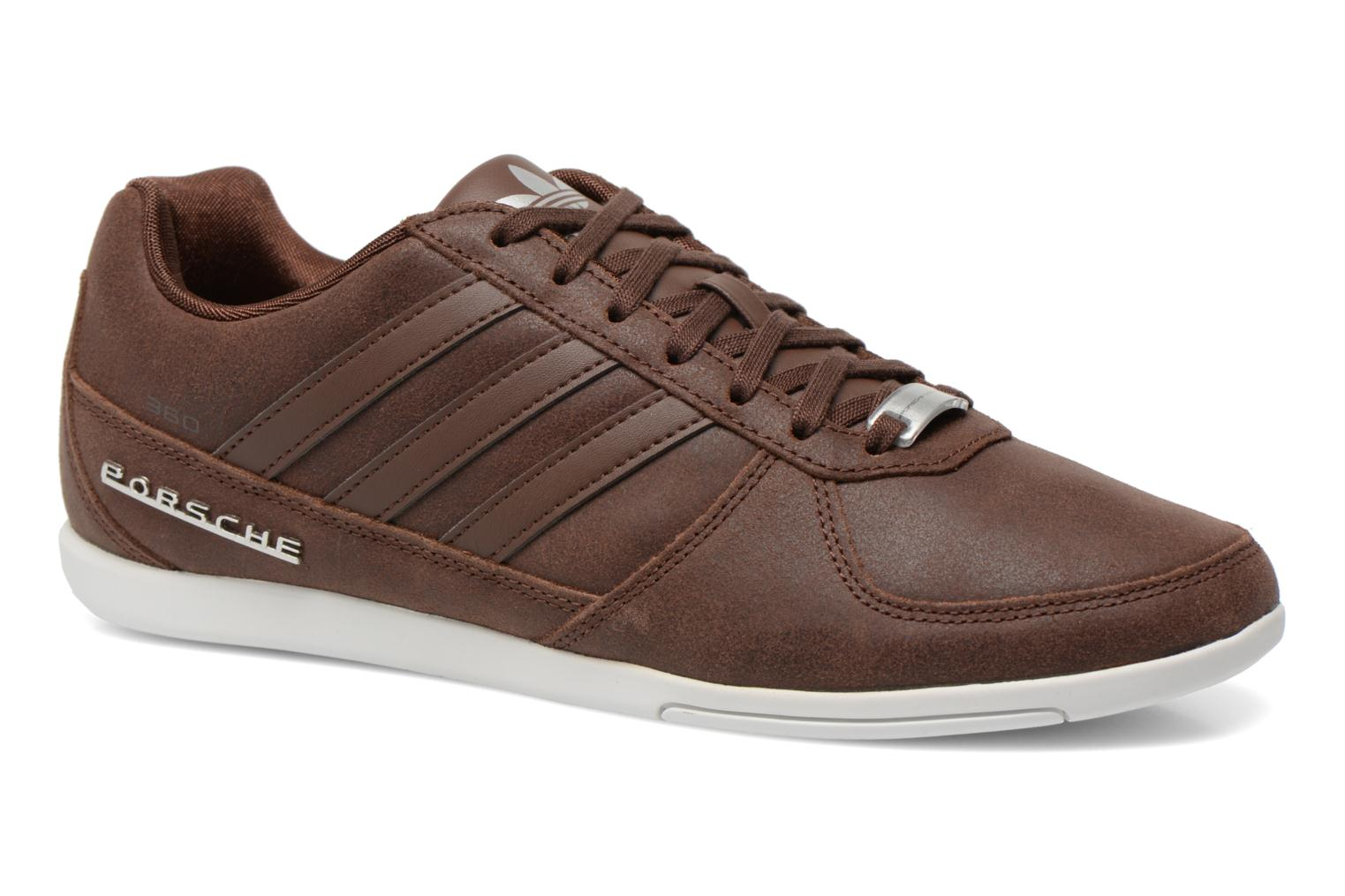 Baskets Adidas Originals Porsche 360 1.2 Suede Marron vue détail/paire