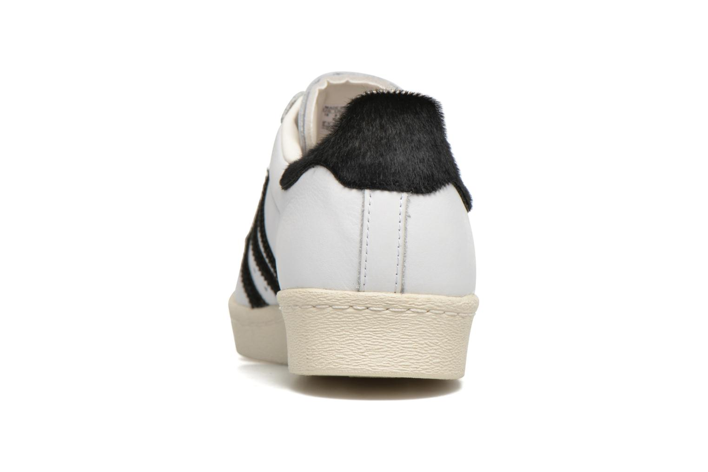 Sneakers Adidas Originals Superstar 80S Wit rechts