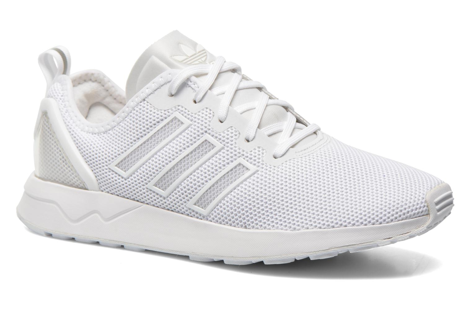 Baskets Adidas Originals Zx Flux Adv Blanc vue détail/paire