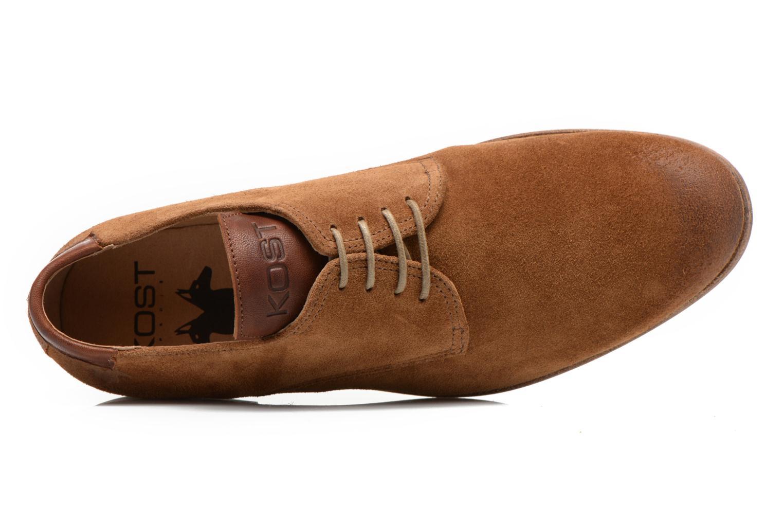 Zapatos con cordones Kost Snape Marrón vista lateral izquierda