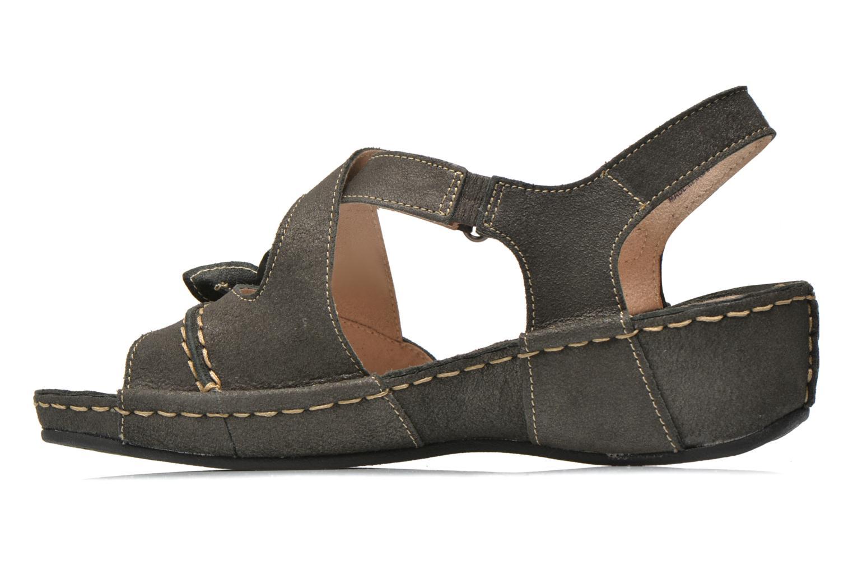 Sandals TBS Easy Walk Vorael Black front view