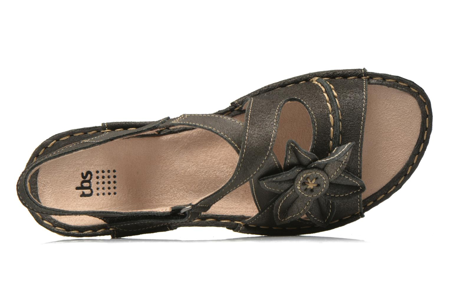Sandals TBS Easy Walk Vorael Black view from the left