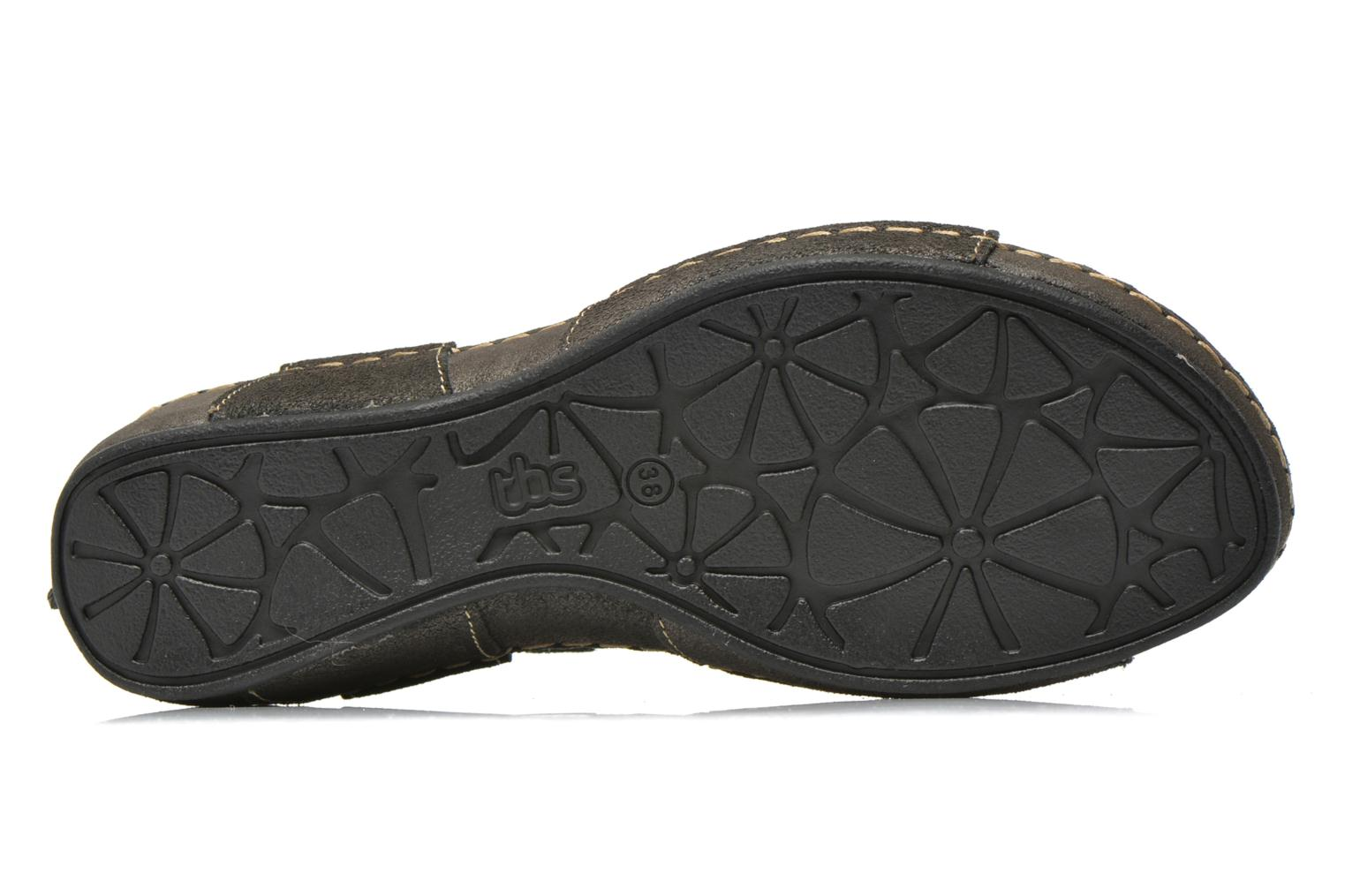 Sandals TBS Easy Walk Vorael Black view from above