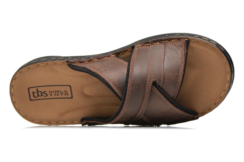 Sandalen TBS Easy Walk Benaix braun ansicht von links