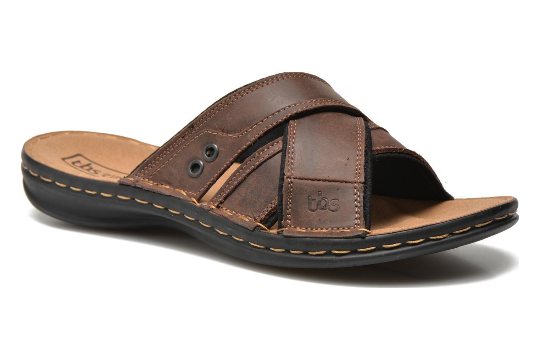 Sandales et nu-pieds TBS Easy Walk Benaix Marron vue détail/paire