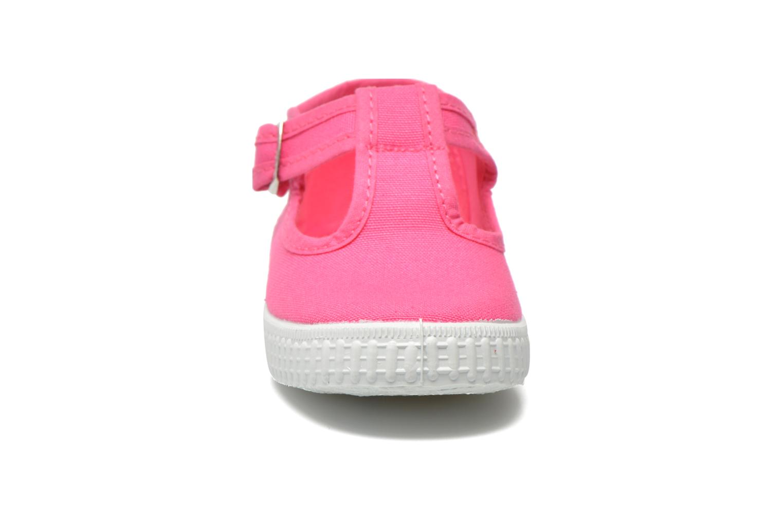 Baskets Cienta Foliv Rose vue portées chaussures