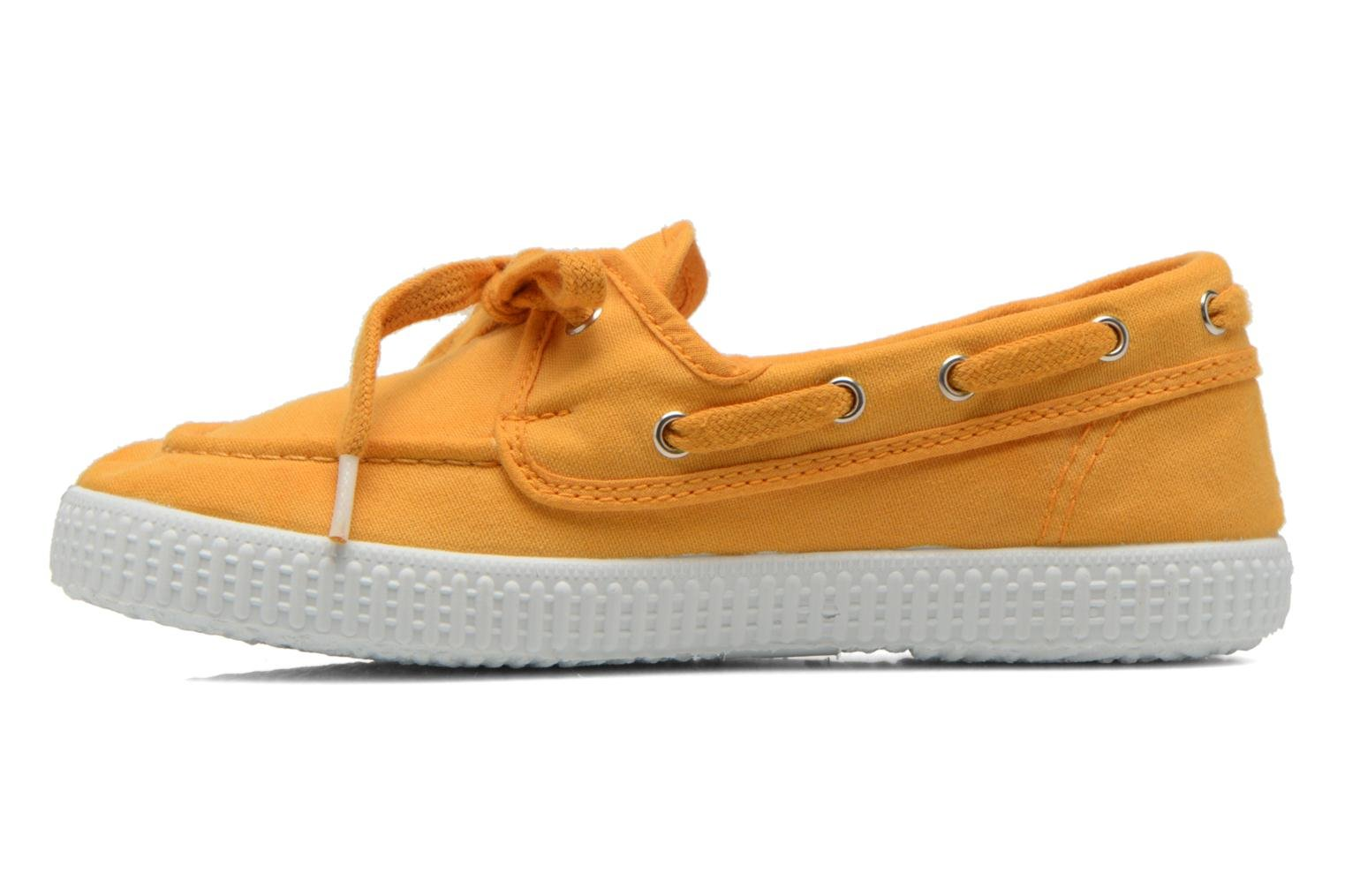 Lace-up shoes Cienta Martino Yellow front view