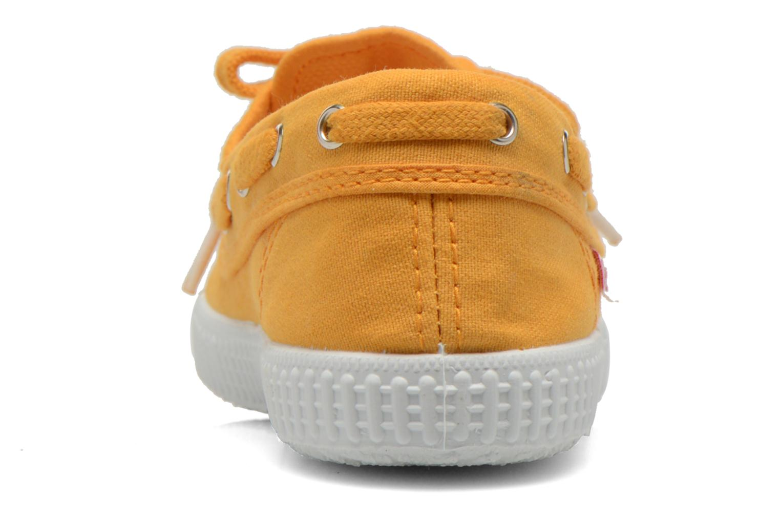 Lace-up shoes Cienta Martino Yellow view from the right