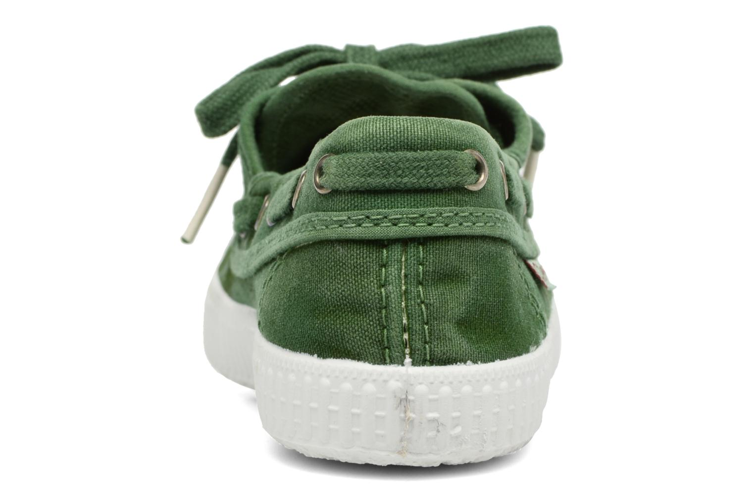 Lace-up shoes Cienta Martino Green view from the right