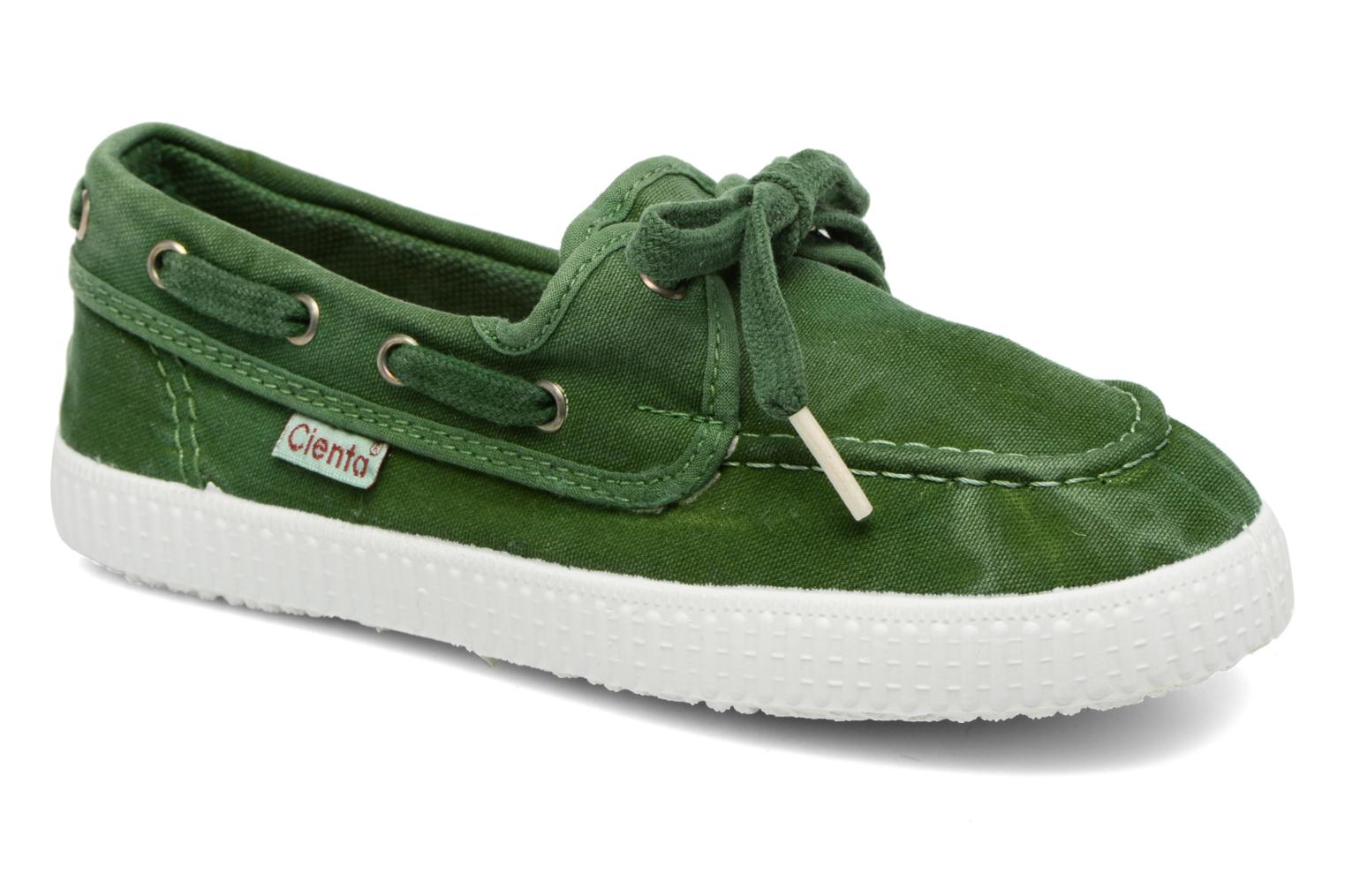 Lace-up shoes Cienta Martino Green detailed view/ Pair view