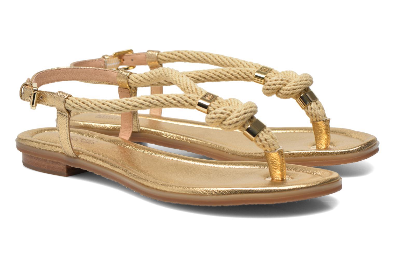 Sandales et nu-pieds Michael Michael Kors Holly Sandal Or et bronze vue 3/4