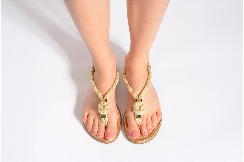 Sandales et nu-pieds Michael Michael Kors Holly Sandal Or et bronze vue bas / vue portée sac