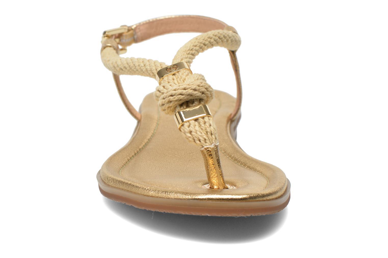 Sandales et nu-pieds Michael Michael Kors Holly Sandal Or et bronze vue portées chaussures