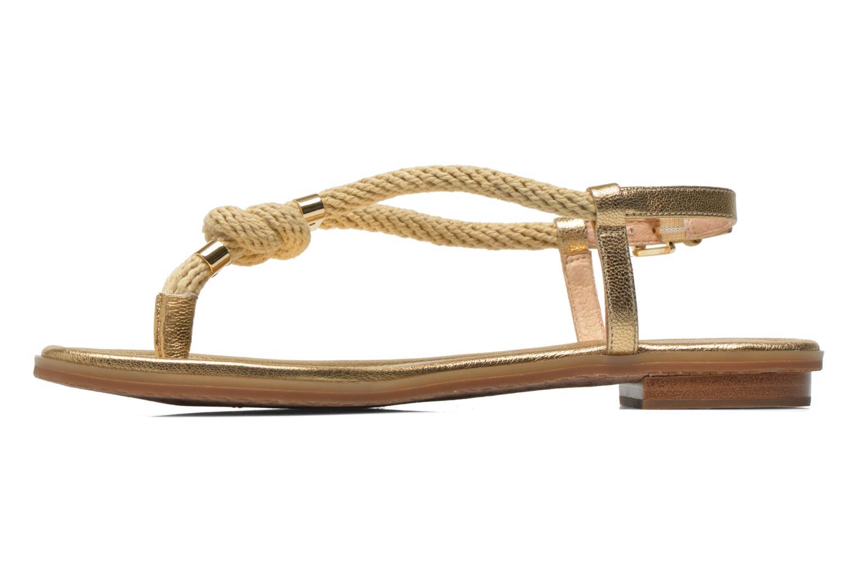 Sandales et nu-pieds Michael Michael Kors Holly Sandal Or et bronze vue face