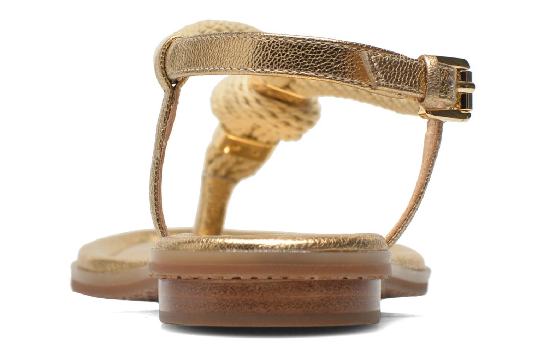 Sandales et nu-pieds Michael Michael Kors Holly Sandal Or et bronze vue droite