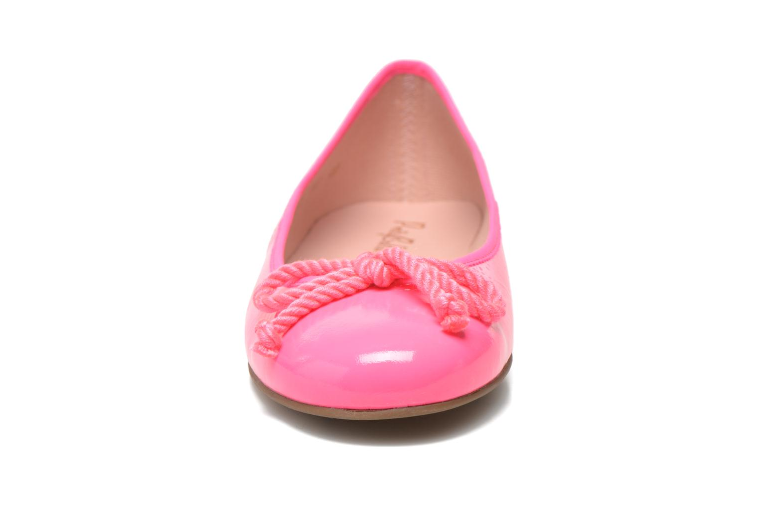 Ballerines Pretty Ballerinas Rosario thick lace Rose vue portées chaussures