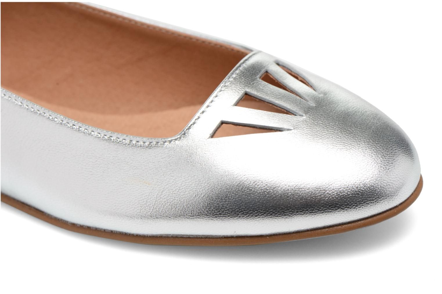 Ballet pumps Made by SARENZA Colette en terrasse #1 Silver view from the left