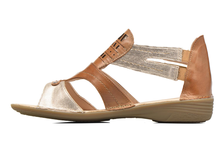 Sandales et nu-pieds Dorking Oda 6769 Marron vue face