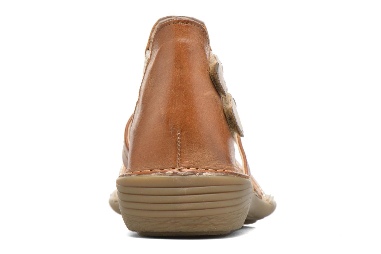 Sandales et nu-pieds Dorking Oda 6769 Marron vue droite