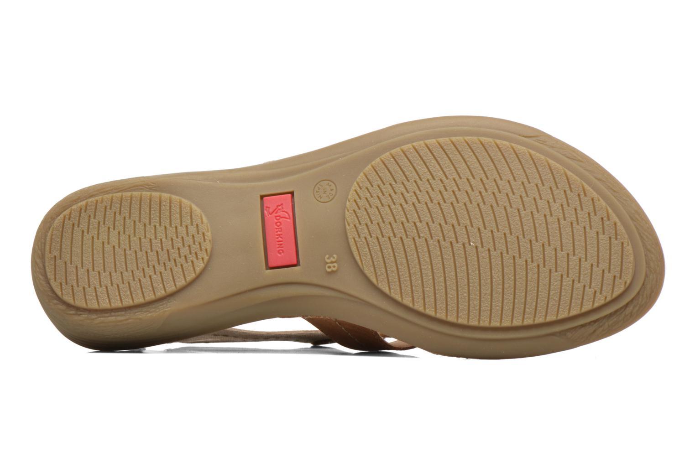 Sandales et nu-pieds Dorking Oda 6769 Marron vue haut