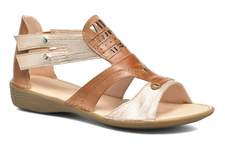 Sandales et nu-pieds Dorking Oda 6769 Marron vue détail/paire