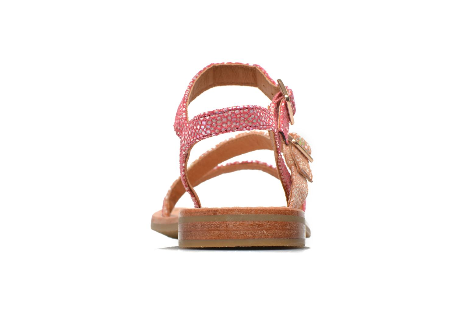 Sandals Mellow Yellow Mnvaloma Pink view from the right