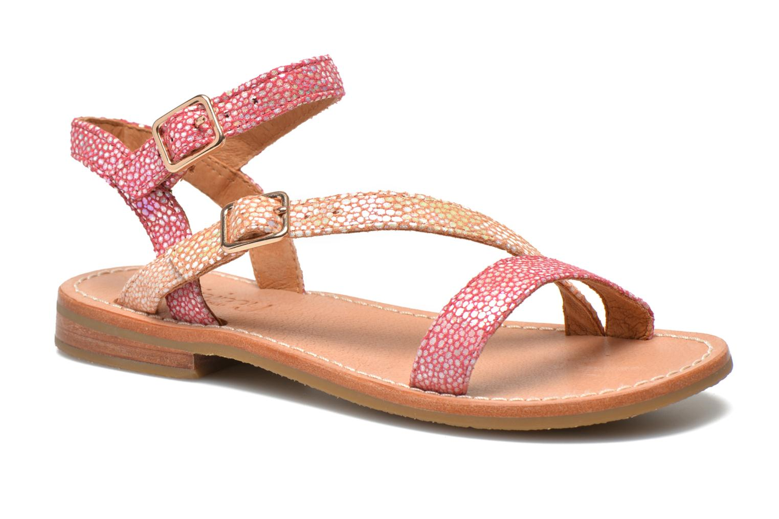 Sandals Mellow Yellow Mnvaloma Pink detailed view/ Pair view