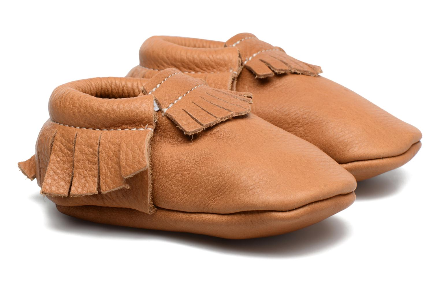 Slippers Hippie Ya Mocassins Brown detailed view/ Pair view