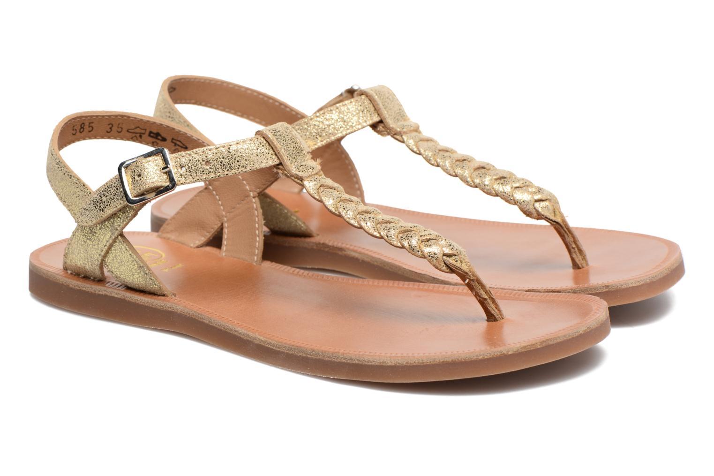 Sandales et nu-pieds Pom d Api Plagette Antic Tong Or et bronze vue 3/4