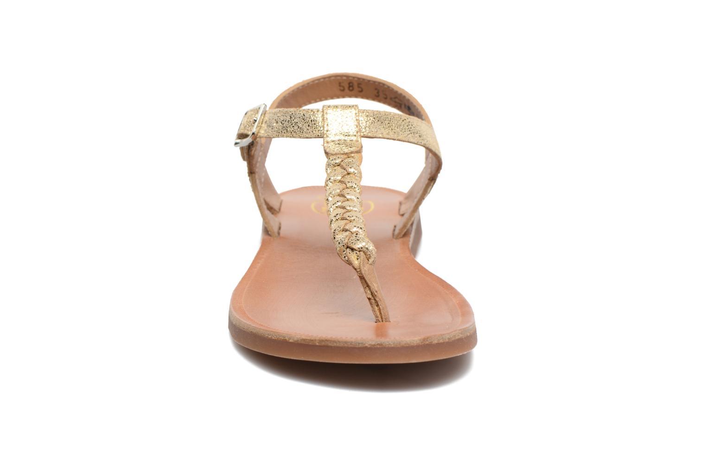 Sandales et nu-pieds Pom d Api Plagette Antic Tong Or et bronze vue portées chaussures