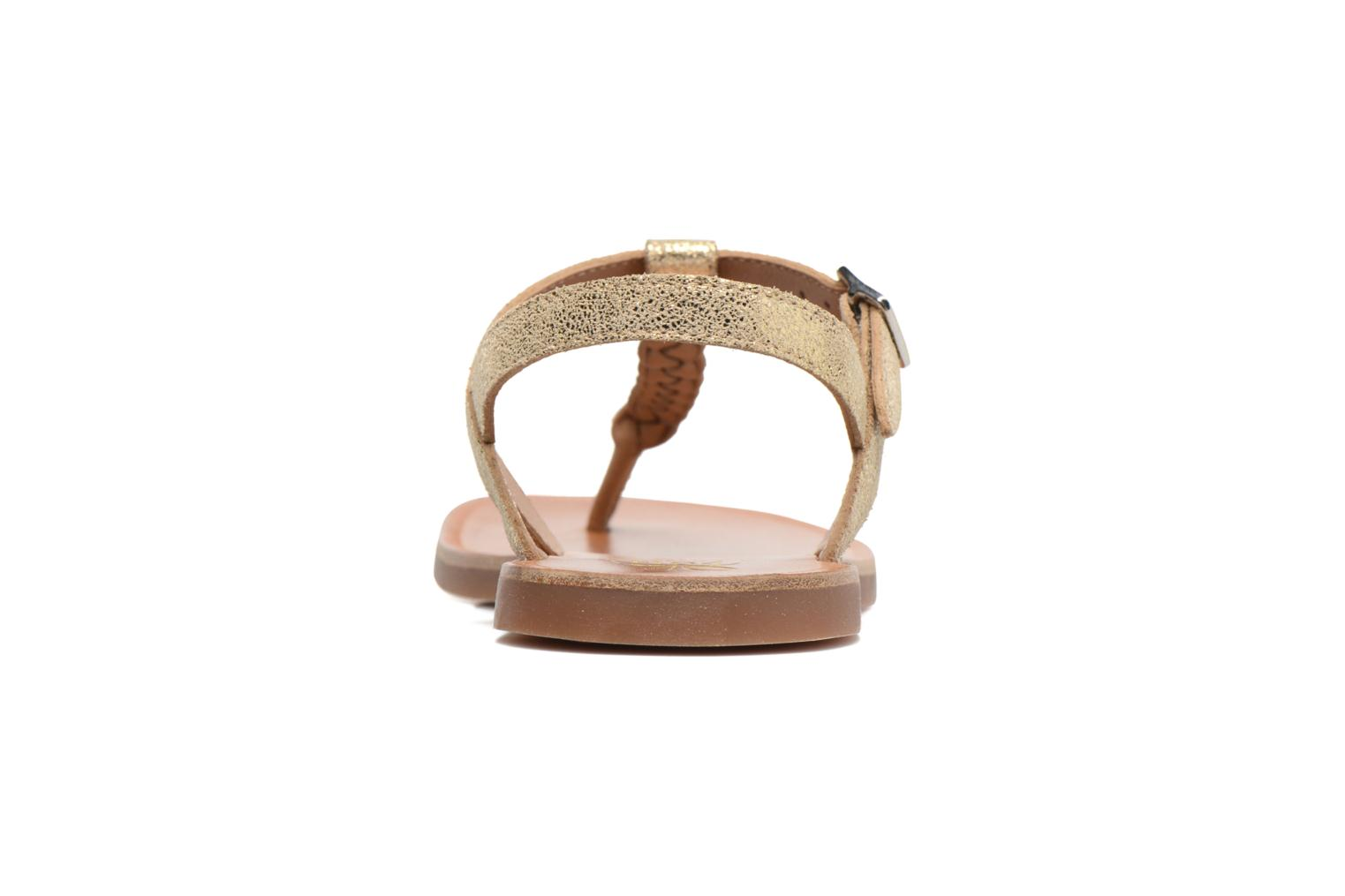Sandals Pom d Api Plagette Antic Tong Bronze and Gold view from the right