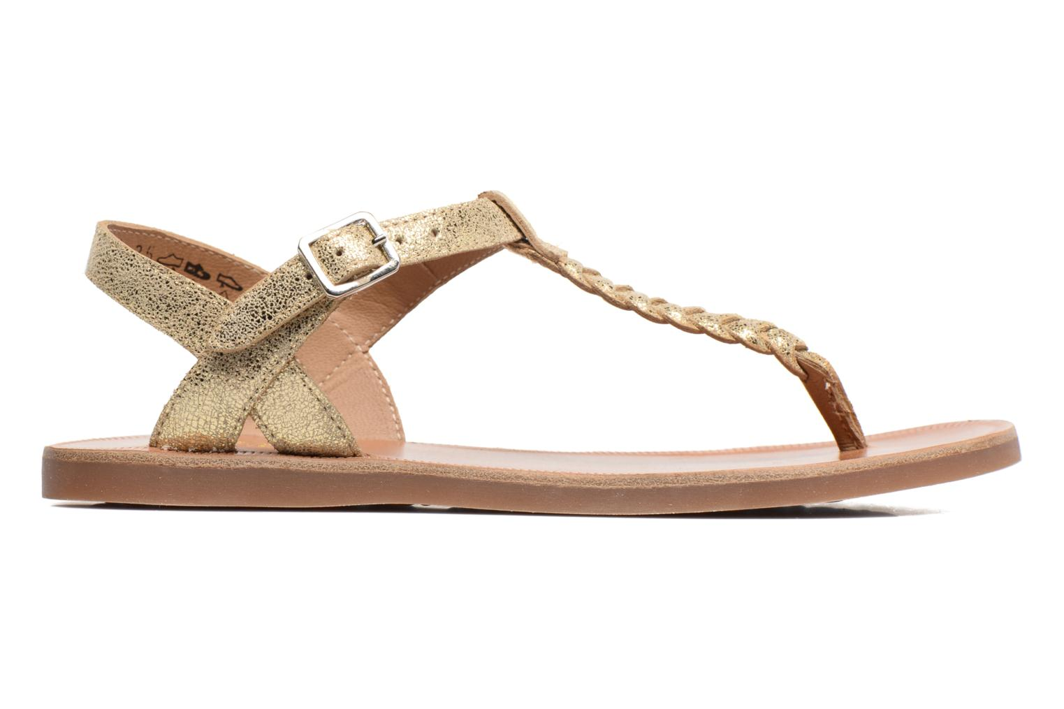 Sandals Pom d Api Plagette Antic Tong Bronze and Gold back view