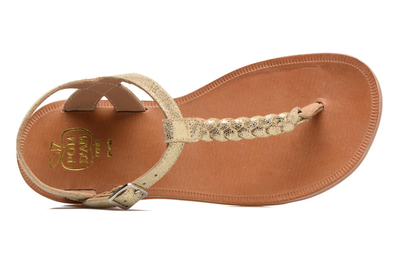 Sandales et nu-pieds Pom d Api Plagette Antic Tong Or et bronze vue gauche