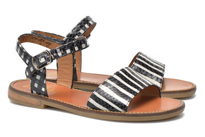 Sandales et nu-pieds Pom d Api Nikky Sandal Eyeliner Noir vue 3/4
