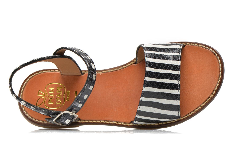 Sandales et nu-pieds Pom d Api Nikky Sandal Eyeliner Noir vue gauche