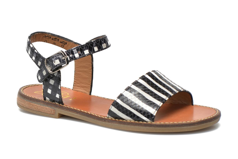 Sandales et nu-pieds Pom d Api Nikky Sandal Eyeliner Noir vue détail/paire