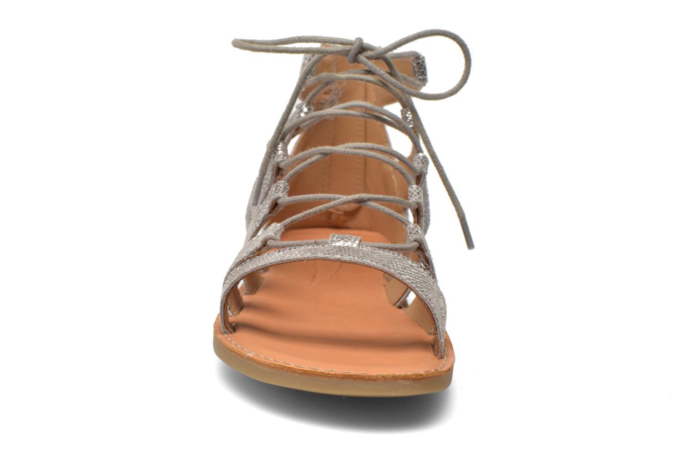 Sandales et nu-pieds Shwik Lazar Hi Lace Argent vue portées chaussures