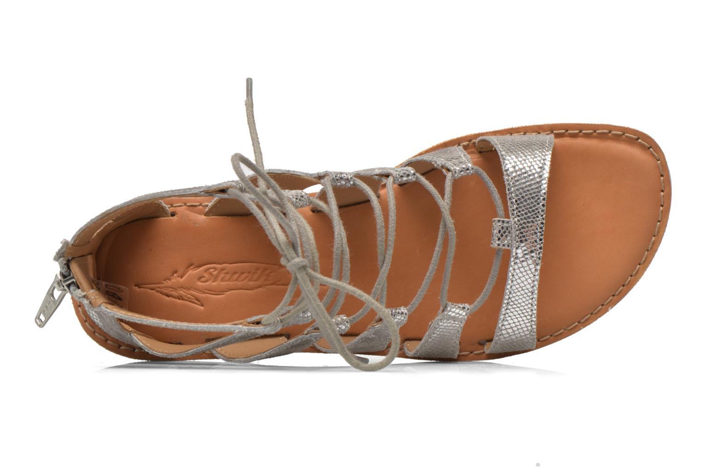 Sandales et nu-pieds Shwik Lazar Hi Lace Argent vue gauche